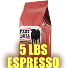 Fast Bull Smooth Crema Espresso 5 LBS - Whole Bean Coffee